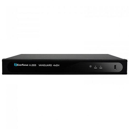 EverFocus VANGUARD4X2H-1T 4 Channel H.265 8MP Hybrid Video Recorder, 1TB