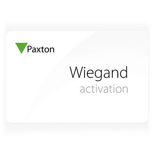 WIEGAND ACTIVATION CARD WITH HID