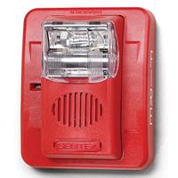 Commander3 Wall Mount Strobe With Horn, Red