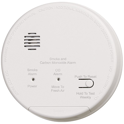 Gentex GN503FF Combination Photoelectric Smoke and Carbon Monoxide Alarm, 2 Sets Form A/Form C Relay Contacts, 120VAC with 9VDC Battery Backup