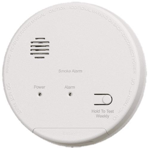 Gentex S1209 Photoelectric Smoke Alarm, 120 VAC with 9V Battery Back-Up Single/Multiple Station Smoke Alarm