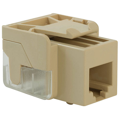 ICC IC1076VCIV Voice RJ11 Keystone Jack for EZ Style, 25-Pack, Ivory