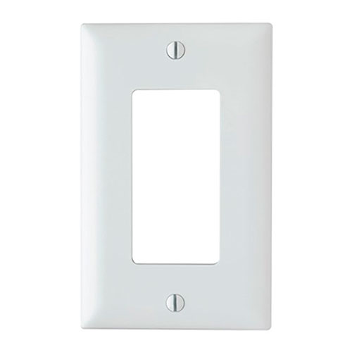 Legrand-On-Q Trademaster 1-Gang Decorator Wall Plate, White (M20)
