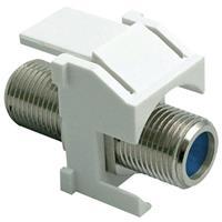 Legrand-On-Q F-Connector Standard Keystone Insert, White