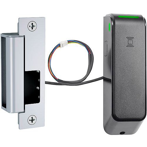 HES ES100-15L-IPS-606 Wireless Electric Strike with 1500 Strike with Complete Pac Latchbolts Faceplates, Satin Brass