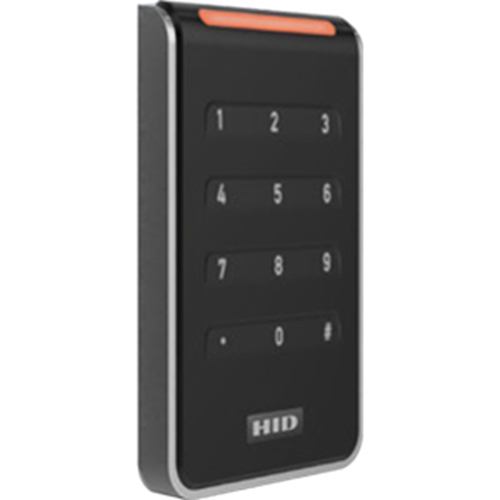 HID 40KTKS-00-000000-HD01 Signo 40K Wall Mount Keypad Reader, Standard Profile, Terminal, Graphic Packaging, Black/Silver (Replaces RK40, RPK40)