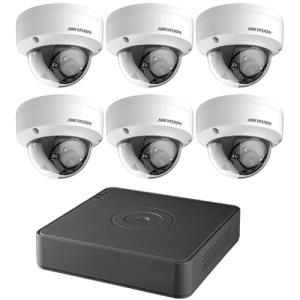 KIT DVR 8CH 2TB 6 DOM 2MP 2.8M