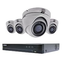 4-CHANNEL PERFORMANCE TURBOHD DVR WITH 1TB HDD & FOUR 5MP TURRET CAMERAS