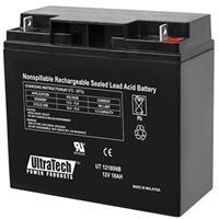 UltraTech IM-12180NB 12 Volt 18.0 Ah Sealed Lead Acid Battery - NB Terminal