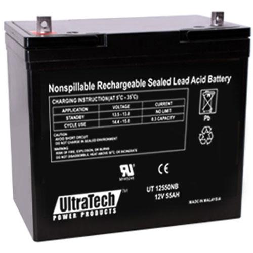 UltraTech IM-12550NB 12 Volt 55.0 Ah Sealed Lead Acid Battery - NB Terminal