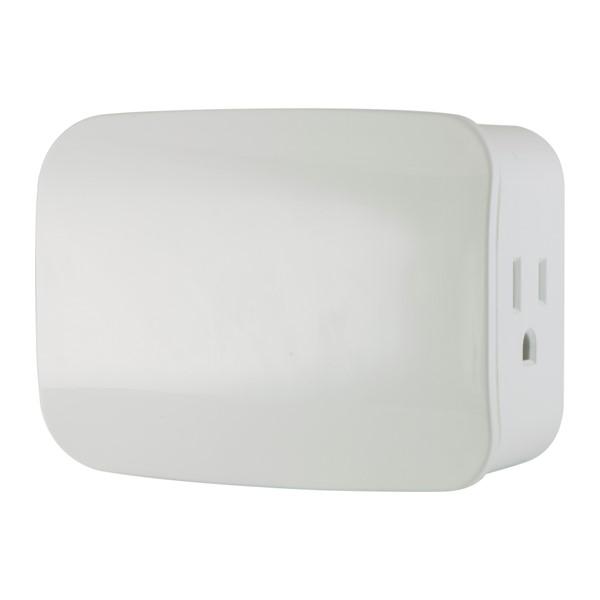 Jasco 28172 Z-Wave Plus Plug-in Smart Switch, Dual Plug, Passthrough, 500S