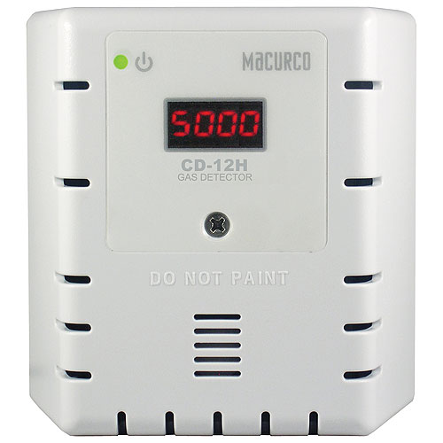 White Housing-Carbon Dioxide CO2 Fixed Gas Detector, Auto Calibration Only (120V)