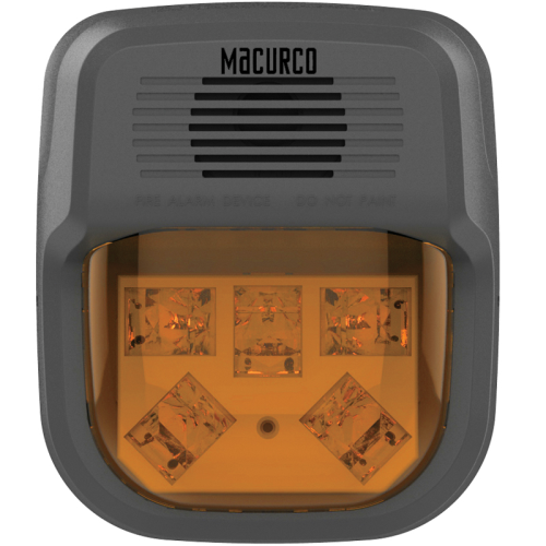 HS-A Horn Strobe Combo (Amber)-Works with Macurco Control Panels and 6 Series