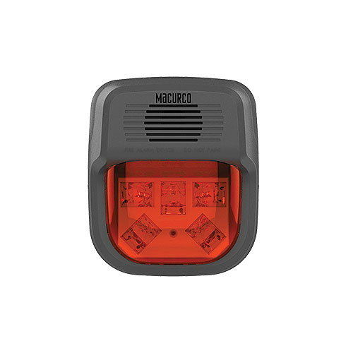 MACURCO HORN STROBE COMBO (RED)