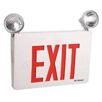 Mircom LED Emergency Exit Sign Combo With Adjustable Heads