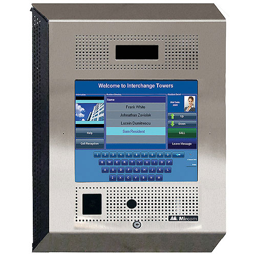 Mircom TX3-TOUCH-S15-D 15 in. Touch Screen Entry Panel with Voice, Camera & Card Reader