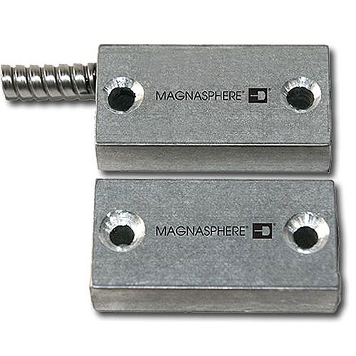 Magnasphere MSS-321SSurface Mount Contact with Armored Cable, 3 Switches, 1 Open Loop, 2 Closed Loop
