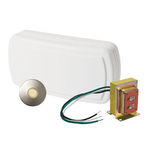 NuTone BK131LSN Builder Kit Doorbell with Satin Nickel Pushbutton