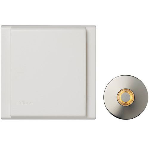 Line Voltage Wired Doorbell W/Led Lighted Satin Ni