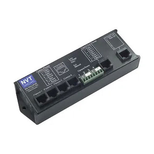 NVT Phybridge NV-704J-PVD 4 Channel Cable Passive Integrator with Power, Video, Data