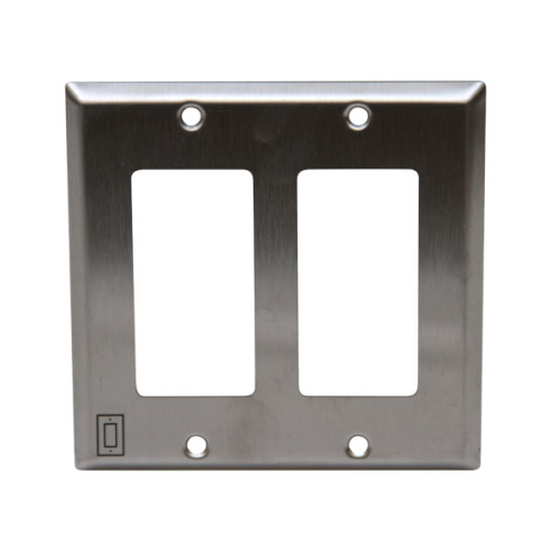 Double Gang Stainless Steel Decora Plate