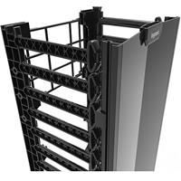 Ortronics QVMS706 Q-Series Vertical Manager - 7 ft H x 6 in wide - single sided