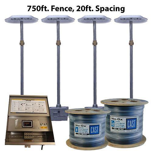 CAST Lighting CPL316K75020 CPL3 Gen 3 Series LED Perimeter 750 ft. Fence Light Kit, 20 ft. Spacing