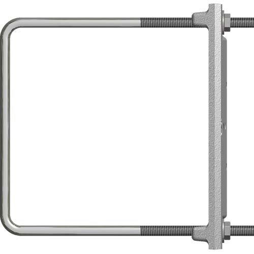 """CAST Lighting CPL3CMB6X6S Custom Square Fence Post Mounting Bracket, Special Order, Fits Max 6.10"""" O.D."""