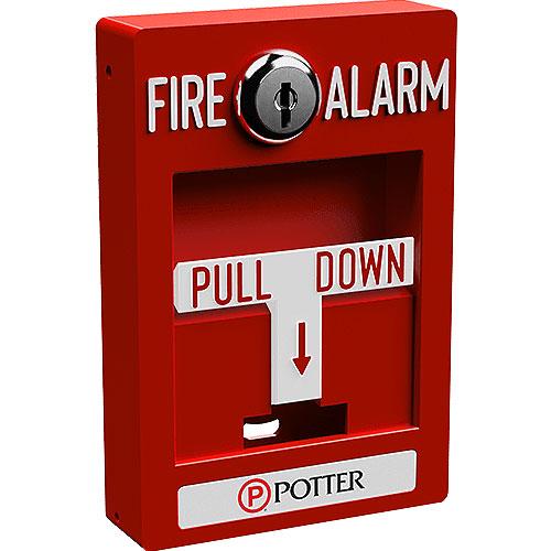 Potter Addressable Pull Station, Single Action