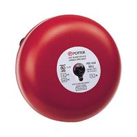 """Potter PDC-6-24 PDC Series DC Powered Bell, 6"""", 24VDC, Red"""