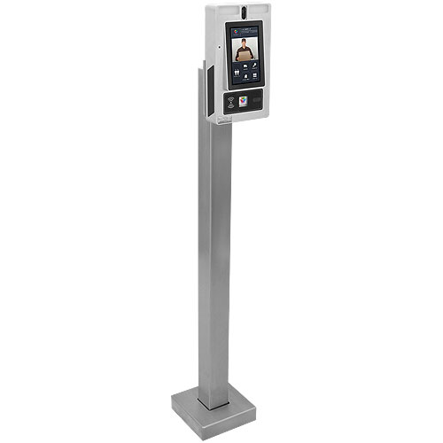 """Pedestal Pro 33PED-BUT-001-304 44"""" Pedestal, Stainless Steel, Low Profile, 7"""""""