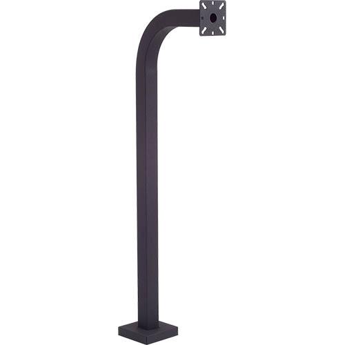 PEDESTAL PRO 42-9C-BLK Mounting Pole for Card Reader, Intercom System, Keypad, Telephone Entry System, Access Control System - Black Wrinkle
