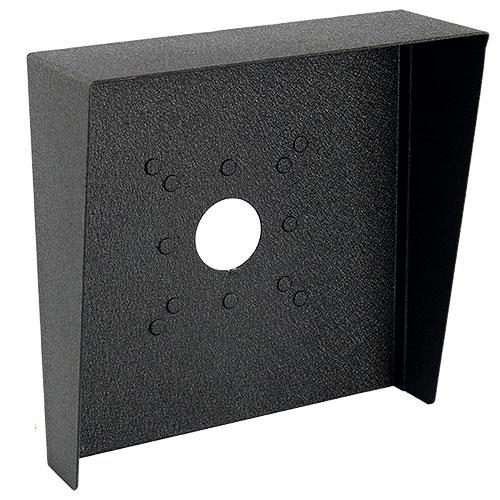 "Pedestal Pro HOOD-CS-10x10 10"" x 10"" Steel Hood, Weather Shroud, black powder coated, 16 Gauge Steel"