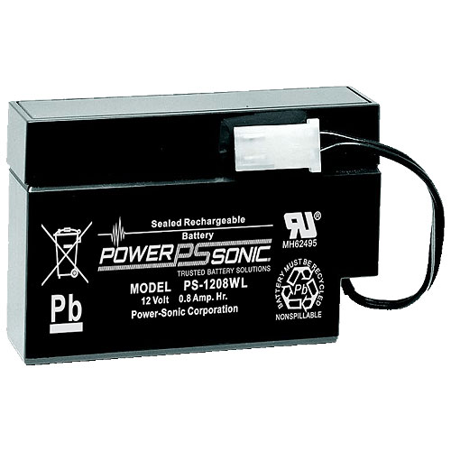 Power Sonic PS-1208WL 12V .8Ah Rechargeable SLA Battery