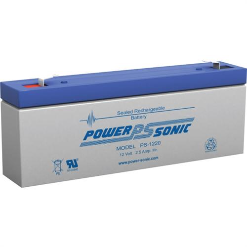 Power Sonic PS-1220F1 12V 2.5Ah General Purpose VRLA Battery with F1 Terminals