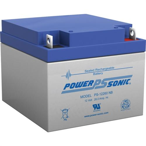 Power Sonic PS-12260NB 12V 26Ah Rechargeable SLA Battery