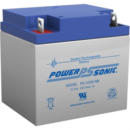 Power Sonic PS-12280NB 12V 18Ah General Purpose VRLA Battery, NB2 Terminal