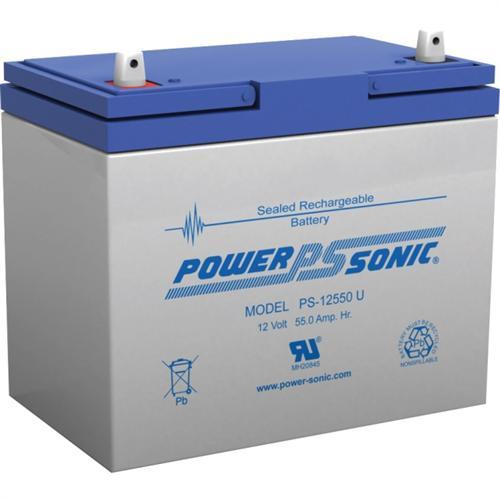 Power Sonic PS-12550 U, 12V 55AH Sealed Lead Acid Battery
