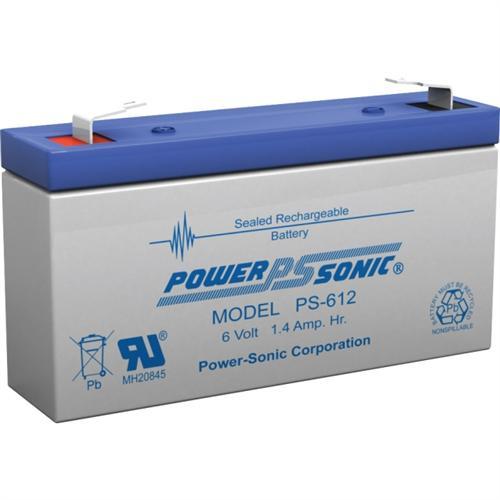 Power Sonic PS-612 6V 1.2Ah General Purpose VRLA Battery