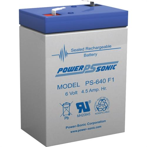 Power Sonic 6v 4.5ah Rechargeable Sealed Lead Acid Battery