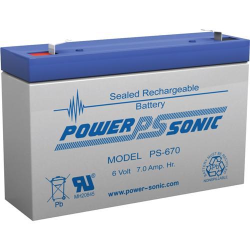 Power Sonic PS-670 6V 7Ah Rechargeable SLA Battery