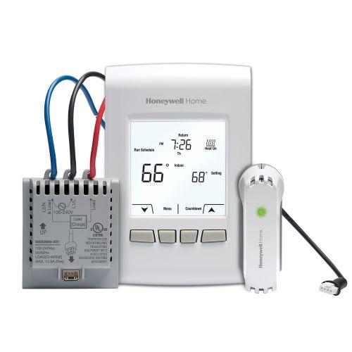 Honeywell Home Comfort YTL9160AR1000/U Wireless Programmable/Non-Programmable Line Volt Thermostat Kit with RedLINK