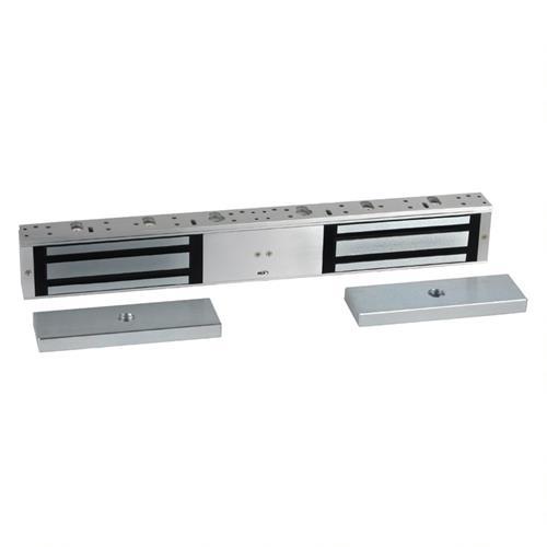 RCI 8320S28 MultiMag Electromagnetic Lock, Double-Door 1,200lb, Security Condition Sensor, Brushed Anodized Aluminum