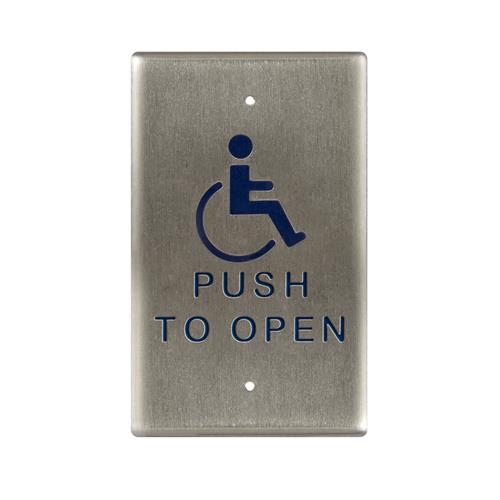 """940 Button """"handicap"""" Symbol And Push To Open"""
