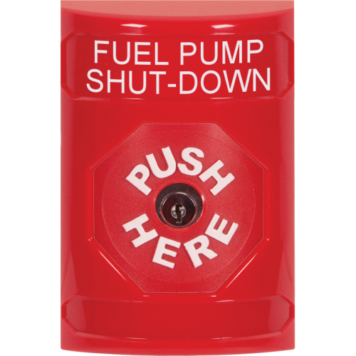 RED STOPPER STATION, NO COVER, PUSH AND KEY-TO-RES