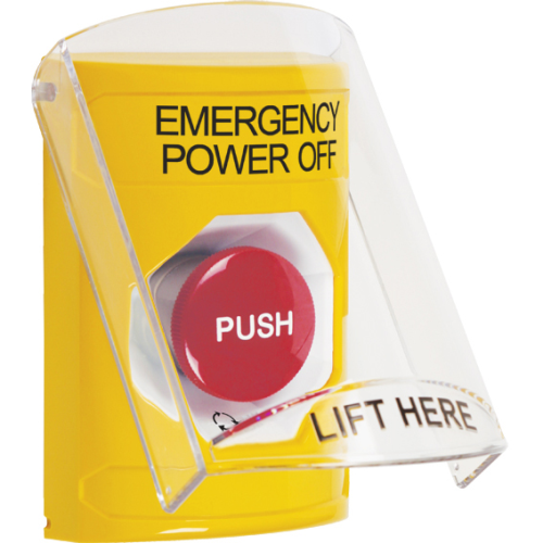 Stopper® Station, Turn-to-Reset, Cover Flush/Surface Mount, Emergency Power Off, Yellow