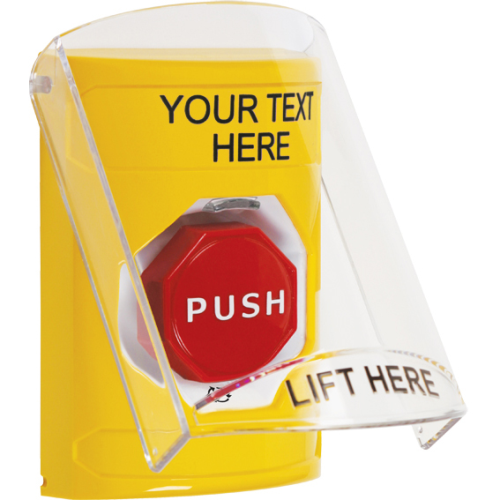 Stopper  Station W/Shield, Yellow, Turn-To-Reset I