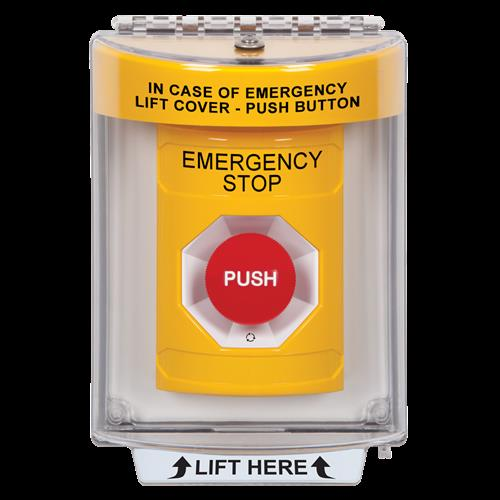 Safety Technology Ss-Ylw,W/Flush Mount Cover Turn To Reset Button
