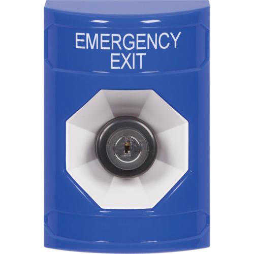 BLUE SS,NO CVR,KEY/ACTIVATE,EMERGENCY EXIT LBL,