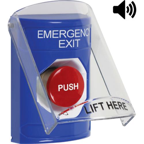 Safety Technology Blue Stopper Station, Sti-6517a Cover With Sounder